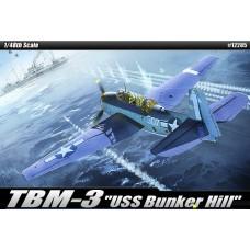 TBM-3 USS BUNKER HILL ACADEMY 1/48