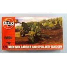 BREN GUN CARRIER & GPDR ANTI TANK GUN AIRFIX 1/76
