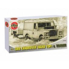 LWB LAND ROVER (HD/TOP)+GS TRAILER AIRFIX 1/76