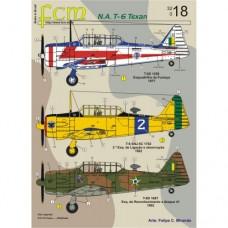 DECAL N.A. T-6 TEXAN FAB FCM 1/32