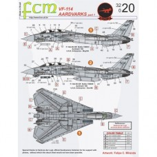 DECAL VF-114 AARDVARKS PART 1 FCM 1/32