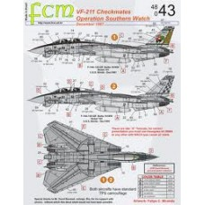 DECAL PARA F-14A CHECKMATES VF-211 PARTE 01 OP. SOUTHERN WATCH FCM 1/48