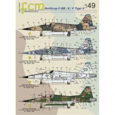 DECAL PARA NORTHROP F-5B/E/F TIGER II FCM 1/48