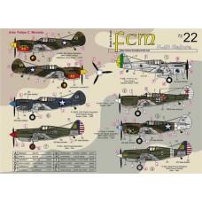 DECAIS PARA P-40E/M/C GALORE, P-40C E OUTROS FCM 1/72