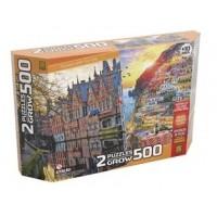 PUZZLE 500 - DUPLO PASSEIO PELA EUROPA - GROW