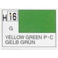 GUNZE AQUEOUS HOBBYCOLOR 10 ml  GLOSS YELLOW GREEN