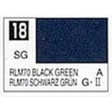 GUNZE MR. COLOR 10 ml  SEMIGLOSS BLACK GREEN RLM 70