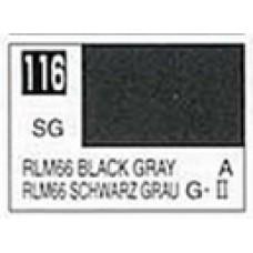 GUNZE MR. COLOR 10 ml  SEMIGLOSS BLACK GRAY RLM 66
