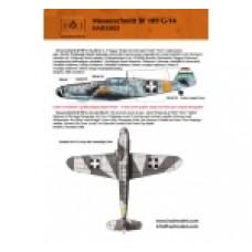 DECAIS Me BF 109 G-14 VERSÃO HUNGARA HUNGAERODECAIS 1/32