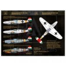 DECAIS PARA MESSERSCHMITT Bf 109F-4/b HUNGAERODECAIS 1/48