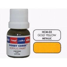 HOBBYCORES GOLD YELLOW METALLIC - 8 ml