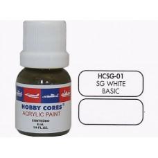 HOBBYCORES SEMIGLOSS WHITE - 8 ml