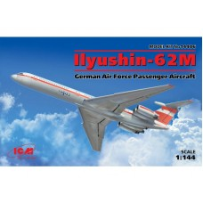 ILYUSHIN-62M GERMAN AIR FORCE PASSENGER  AIRCRAFT ICM 1/144