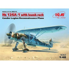 HS 126A-1WITH BOMB RACK ICM 1/48