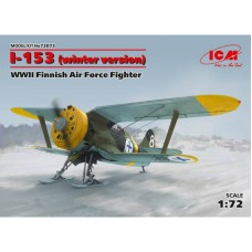 I-153 WINTER VERSION WWII FINNISH AIR FORCE FIGHTER ICM 1/72