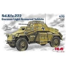 SD. KFZ. 222 GERMAN LIGHT ARMORED VEHICLE ICM 1/72