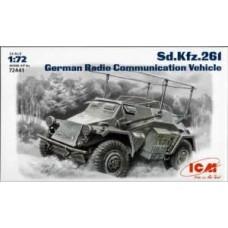 SD. KFZ. 261 GERMAN RADIO COMMUNICATION VEHICLE ICM 1/72