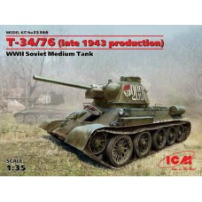 T34/76 LATE 1943 PRODUCTION ICM 1/35