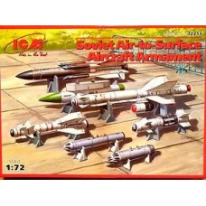 SOVIET AIR TO SURFACE AIRCRAFT ARMAMENT ICM 1/72