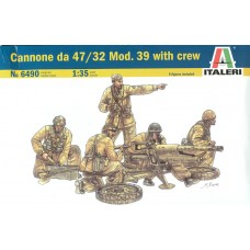 CANNONE DA 47/32 MOD. 39 WITH CREW ITALERI 1/35