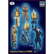 FAMOUS PILOTS OF WWII KIT 01 MASTER BOX 1/32