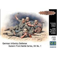GERMAN INFANTRY DEFENSE EASTERN FRONT BATTLE, KIT No. 01 MASTER BOX 1/35