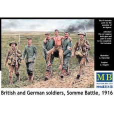 BRITISH AND GERMAN SOLDIERS, SOMME BATTLE  1916 MASTER BOX 1/35