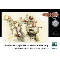 HAND TO HAND FIGHT BRITISH AND GRMEN INFANTRY NORTERN AFRICA MASTER BOX 1/35