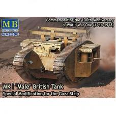 MK I MALE BRITISH TANK SPECIAL MODIFICATION FOR GAZA STRIP MASTER BOX 1/72