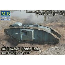 MK II MALE BRITISH TANK SPECIAL ARRAS BATTLE PERIOD, 1917 MASTER BOX 1/72