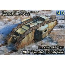 MK II FEMALE BRITISH TANK SPECIAL ARRAS BATTLE PERIOD, 1917 MASTER BOX 1/72