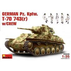 GERMAN Pz. Kpfw. T-70 743(r) W/CREW MINI ART 1/35