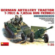 GERMAN ARTILERY TRACTOR T-70(r) E 7,62cm GUN FK288(r) MINI ART 1/35