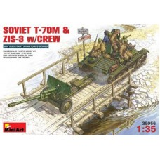 SOVIET T-70M E ZIS-3 WITH CREW MINI ART 1/35