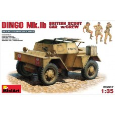 DINGO Mk.1b BRITISH SCOUT CAR W/CREW MINI ART 1/35
