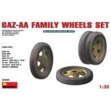 GAZ-AA FAMILY WHEELS SET MINI ART 1/35