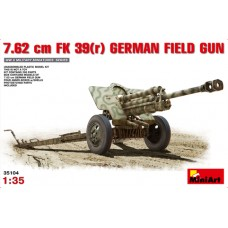 7.62CM FK39 GERMAN FIELD GUN MINI ART 1/35