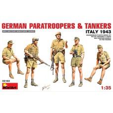GERMAN PARATROOPERS & TANKERS ITALY 1943 MINI ART 1/35