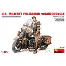 U.S. MILITARY POLICEMAN W/MOTORCYCLE MINI ART 1/35