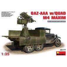 GAZ-AAA W/QUAD M4 MAXIM MINI ART 1/35