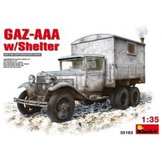 GAZ-AAA W/SHELTER MINI ART 1/35