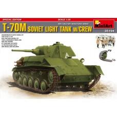 T-70M SOVIET LIGHT TANK W/CREW MINI ART 1/35
