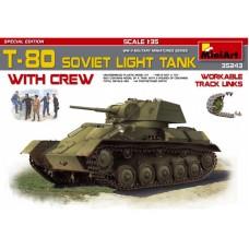 T-80 SOVIET LIGHT TANK MINI ART 1/35