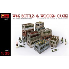 WINES BOTTLES E WOODEN CRATES MINIART 1/35