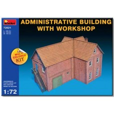 ADMINISTRATIVE BUILDING WITH WORKSHOP MULTI COLORED KIT MINIART 1/72