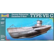 GERMAN SUBMARINE TYPE VIIC REVELL 1/350