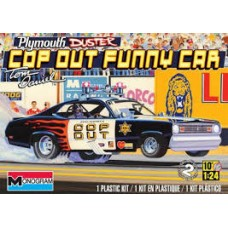 PLYMOUTH DUSTER COP OUT FUNNY CAR REVELL 1/24