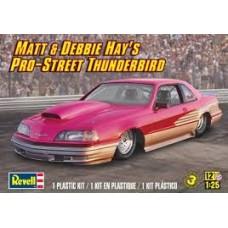 MATT E DEBBIE HAYS PRO STREET THUNDERBIRD REVELL 1/25